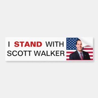 I Stand With Scott Walker Bumper Sticker