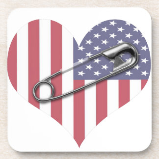 I Stand With You - Safety Pin Coaster