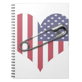 I Stand With You - Safety Pin Spiral Notebook