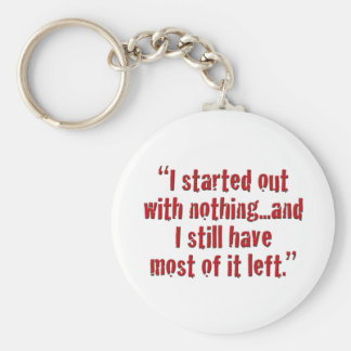 """I started out with nothing... Key Chains"