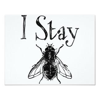 """I Stay Fly 4.25"""" X 5.5"""" Invitation Card"""