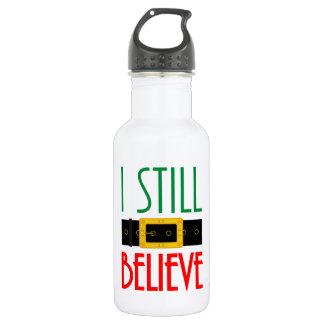 I Still Believe Santa Belt Christmas 532 Ml Water Bottle