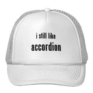 i still like accordion mesh hat