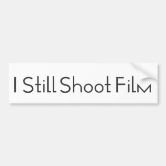 I Still Shoot Film Bumper Sticker