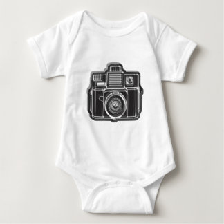 I Still Shoot FIlm Logo Black Baby Bodysuit