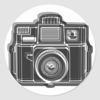 I Still Shoot FIlm Logo Black Classic Round Sticker