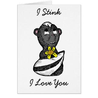 """I """"Stink"""" I Love You, Funny Skunk Card"""