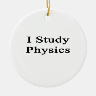 I Study Physics Ceramic Ornament