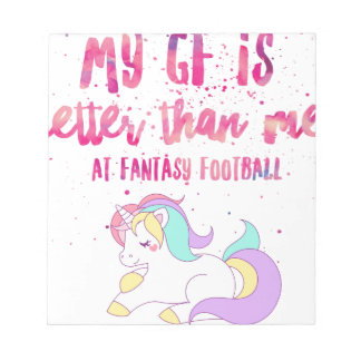 I Suck At Fantasy Football Short-Sleeve Unisex T-S Notepad