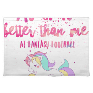 I Suck At Fantasy Football Short-Sleeve Unisex T-S Placemat