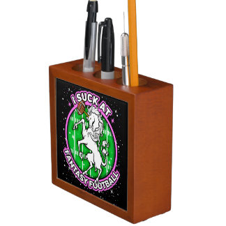 I Suck At Fantasy Football Unicorn Desk Organizer