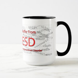 I Suffer From Extreme Spreadsheet Disorder Mug