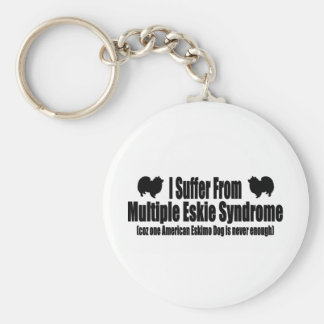 I Suffer From Multiple Eskie Syndrome Basic Round Button Keychain