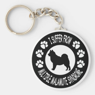 I Suffer From Multiple Malamute Syndrome Basic Round Button Keychain