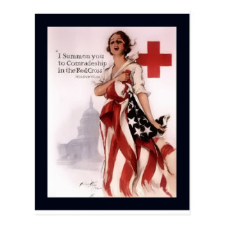 I Summon You To Comradeship In The Red Cross~WW I Postcard