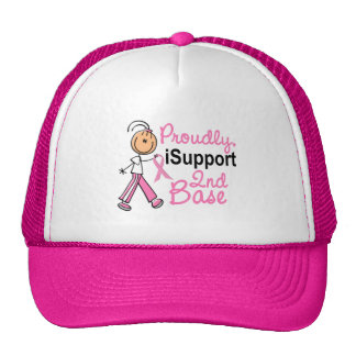 I Support 2nd Base SFT Breast Cancer Trucker Hat