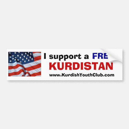 I support a free Kurdistan USA Bumper Sticker