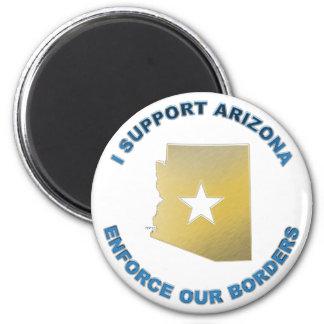 I Support Arizona 2 Inch Round Magnet