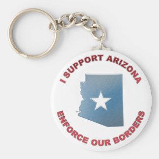 I Support Arizona Basic Round Button Keychain