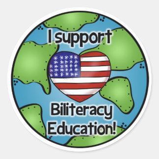 I Support Biliteracy Education Sticker