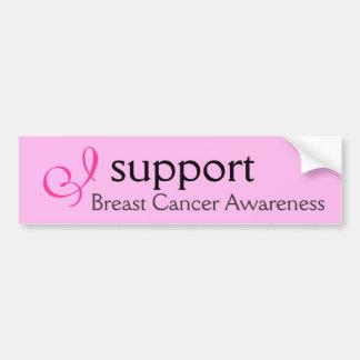 I support Breast Cancer Awareness - Sticker Car Bumper Sticker