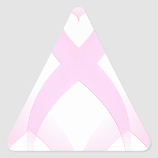 I Support,Breast Cancer Awareness_ Triangle Sticker