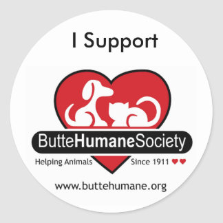 I support Butte Humane Sticker