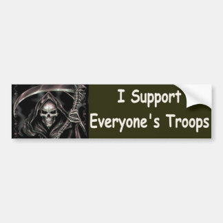 I support everyones troops bumper sticker