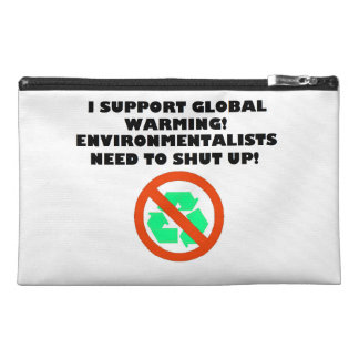 I Support Global Warming Zippered Bag Travel Accessories Bag