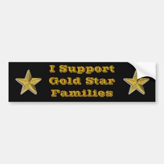 I Support Gold Stars Bumper Sticker