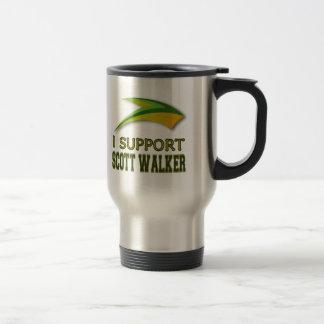 I Support Governor Scott Walker of Wisconsin 15 Oz Stainless Steel Travel Mug