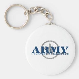 I Support Grandson - ARMY Basic Round Button Keychain