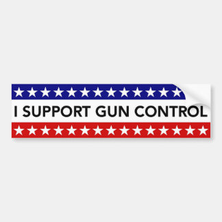 I Support Gun Control bumper sticker