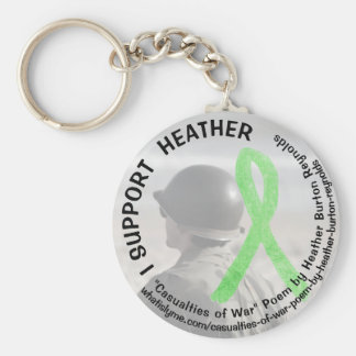 I Support Heather, Lyme Disease Military Key Chain