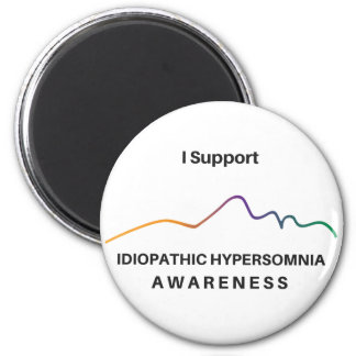 I Support IH Awareness Round Magnet