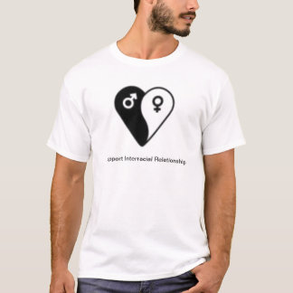 I support interracial dating T-Shirt