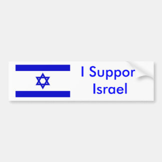 I Support Israel Bumper Sticker