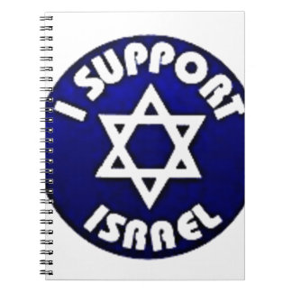 I Support Israel - Star of David מגן דוד Spiral Notebook
