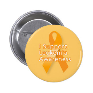 I Support Leukaemia Awareness 2 Inch Round Button