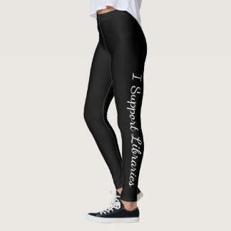 I Support Libraries! Leggings