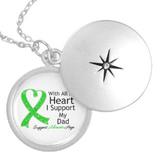 I Support My Dad With All My Heart Round Locket Necklace