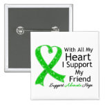 I Support My Friend With All My Heart 2 Inch Square Button