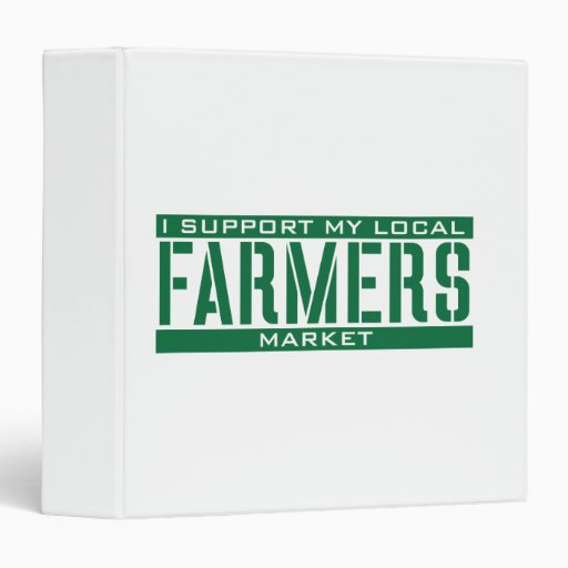 I Support my local Farmers Market Binders