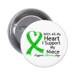 I Support My Niece All My Heart 2 Inch Round Button