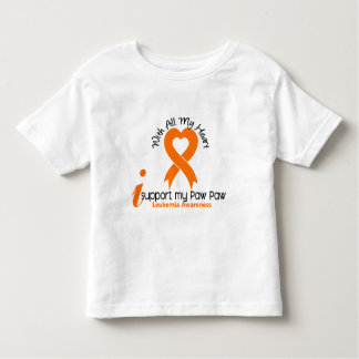 I Support My Paw Paw Leukemia Toddler T-shirt