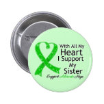 I Support My Sister All My Heart Pinback Buttons