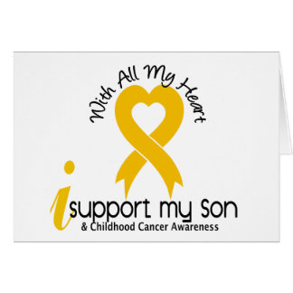 I Support My Son Childhood Cancer Greeting Card