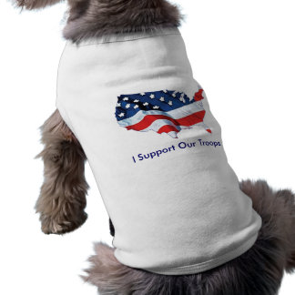 I Support Our Troops shirt for dogs