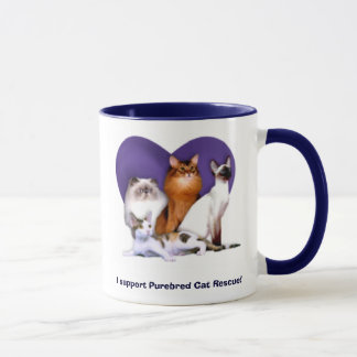 I support Purebred Cat Rescue! Mug