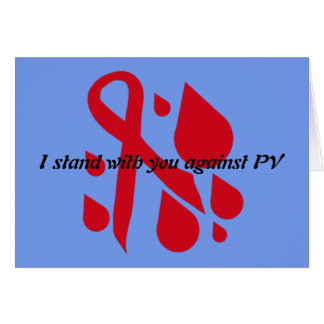 I support PV patient Card